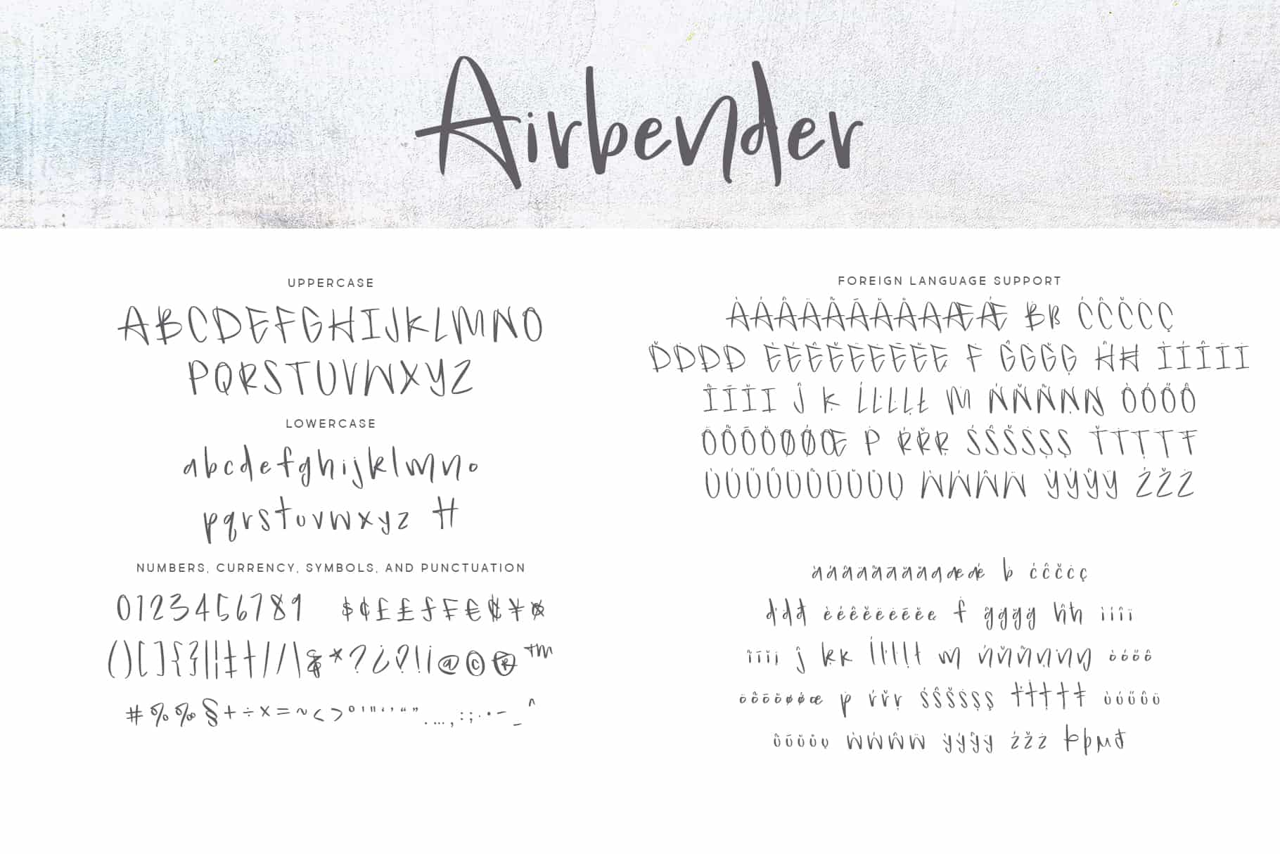 Airbender Letters