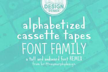 Alphabetized Cassette Tapes Font Family Remix