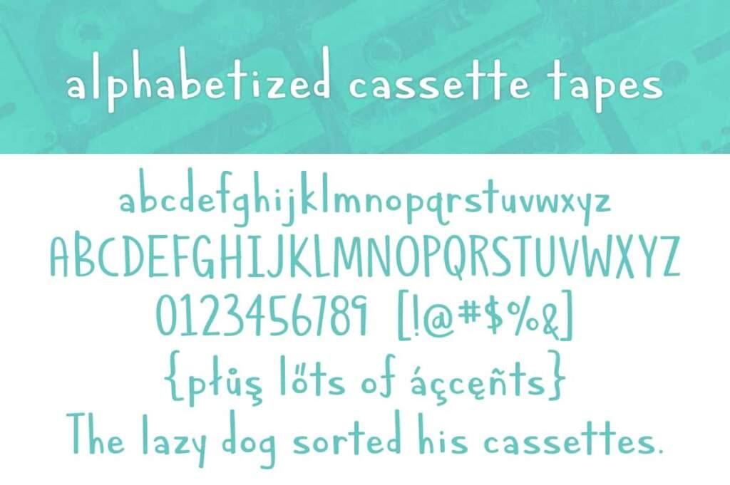 Alphabetized Cassette Tapes Letters