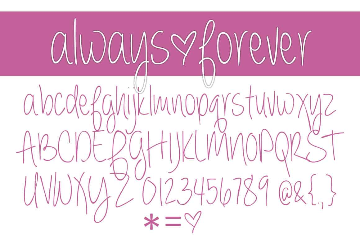 Always Forever Letters