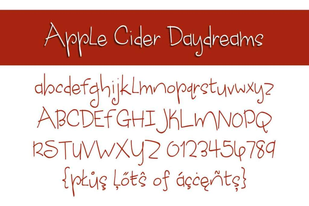 Apple Cider Daydreams Letters