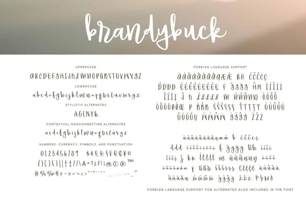 Brandybuck Regular Letters