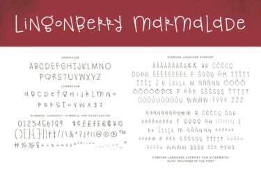 Regular Lingonberry Marmalade Letters