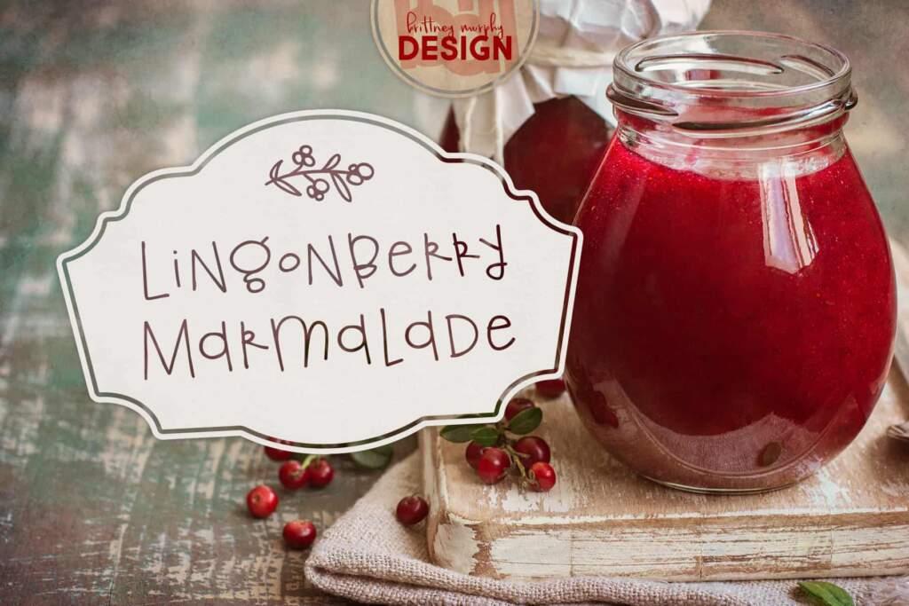 Regular Lingonberry Marmalade Title