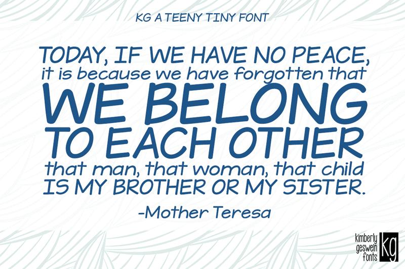 Kg A Teeny Tiny Font