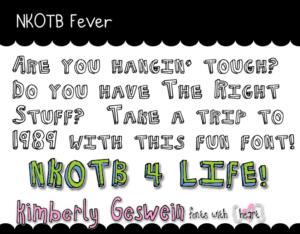 NKOTB Fever Font