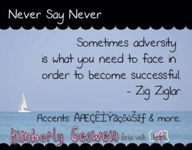 Never Say Never Font