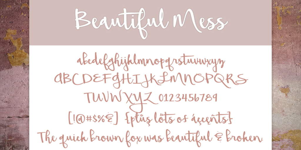 Beautiful Mess Letters Fontspring