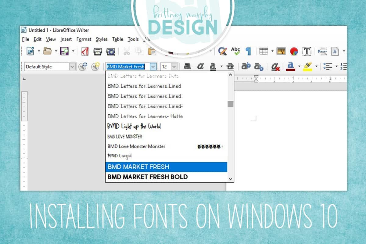 Installing Fonts On Windows 10