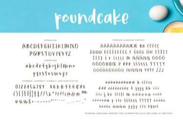 Poundcake Regular Letters