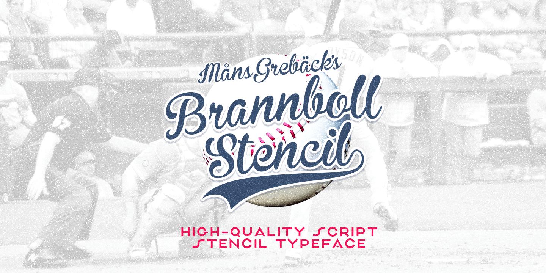 Brannboll Stencil Poster01