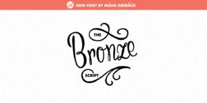 Bronze Script Poster