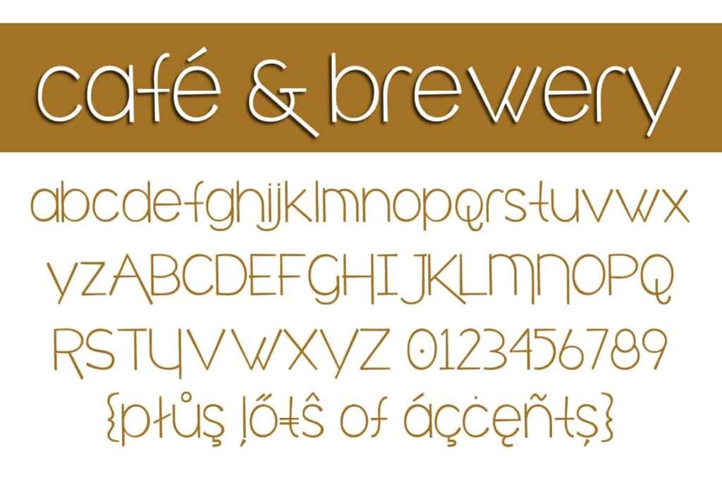 Café & Brewery Letters