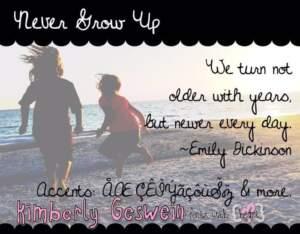 Kg Never Grow Up