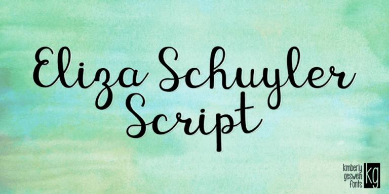 Kg Eliza Schuyler Script Fp 950x475