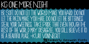 Kg One More Night