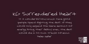 Kg Surrendered Heart
