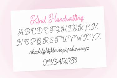 Kind Handwriting 2