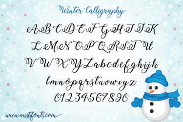 Winter Calligraphy 4