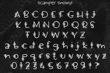 Scamper Snowy Letters