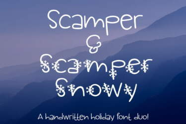 Scamper And Scamper Snowy