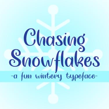 Chasing Snowflakes Flag