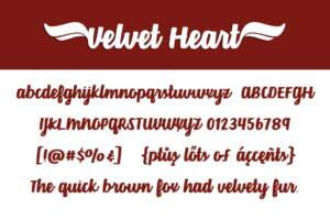 Velvet Heart Letters
