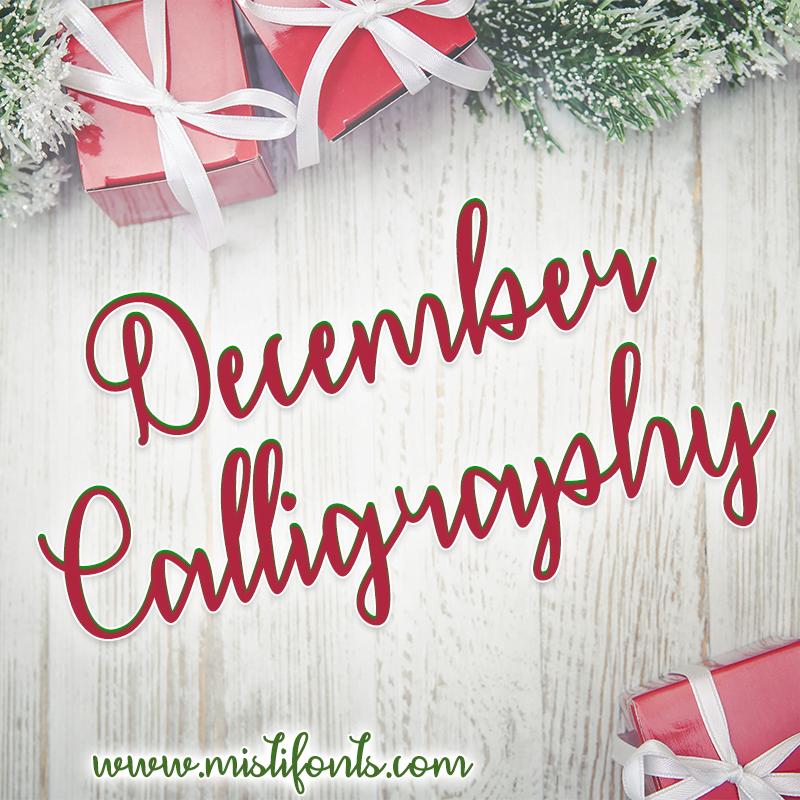 December Calligraphy Flag