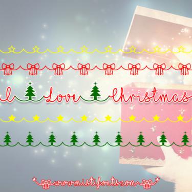 I Love Christmas Flag
