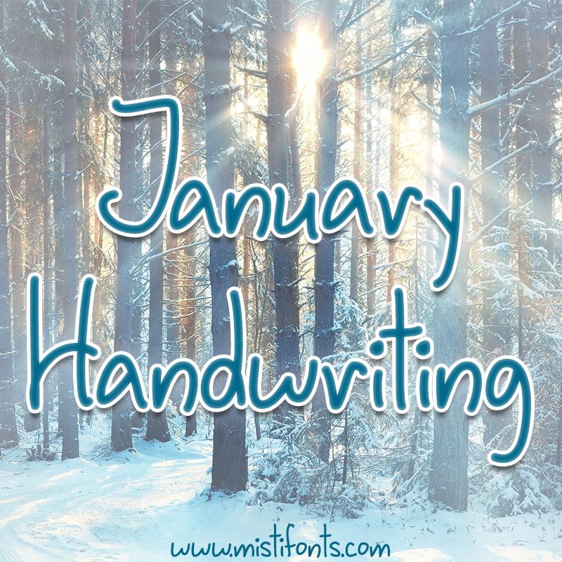 January Handwriting Flag
