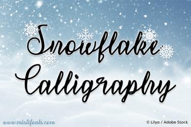 Snowflake Calligraphy