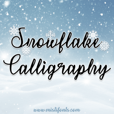 Snowflake Calligraphy Flag