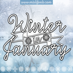 Winter In January Flag