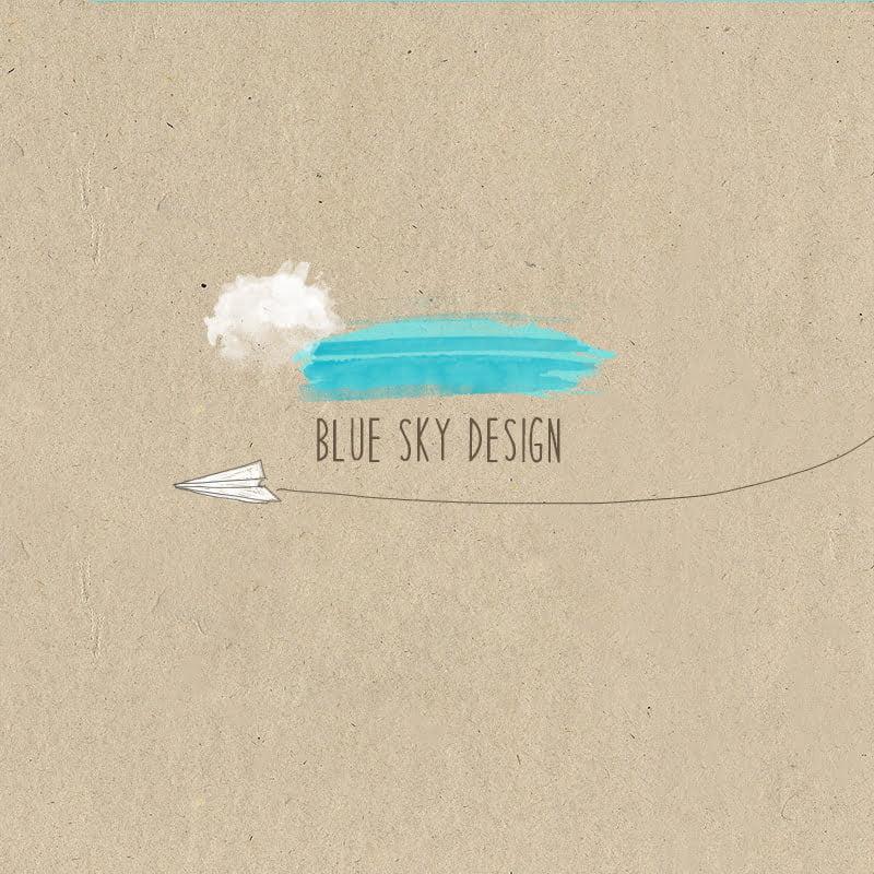 Blue Sky Design Paper Icon