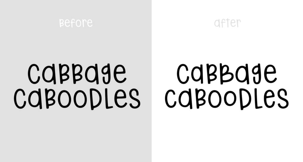 Cabbage Caboodles Before And After