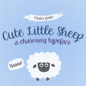 Cute Little Sheep Flag