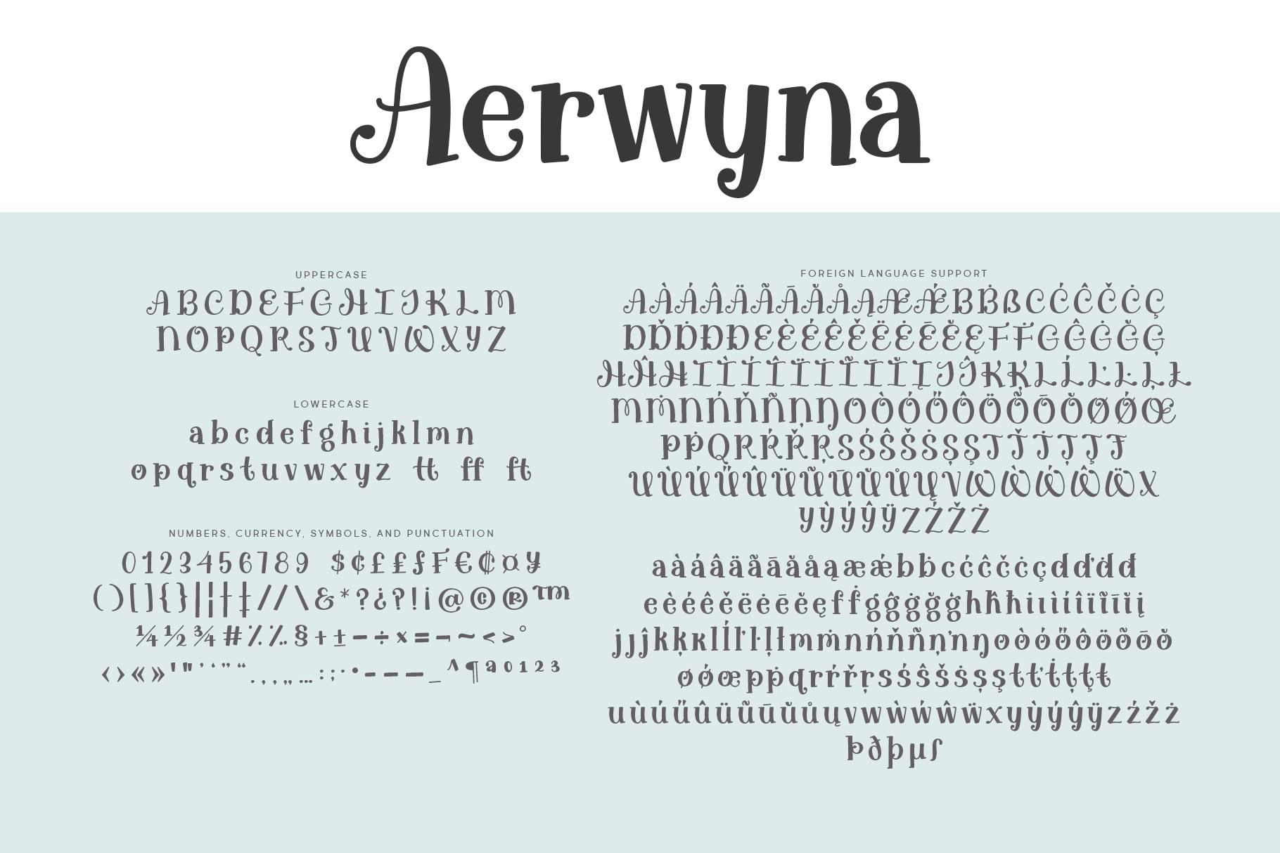 Aerwyna Regular Letters