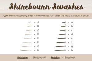 Shirebourn Regular Swashes