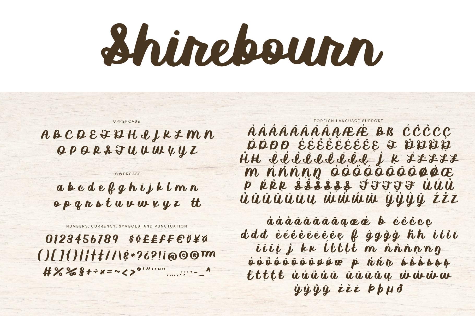 Shirebourne Regular Letters