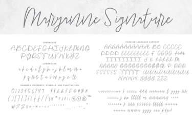 Maryanne Signature Letters Regular
