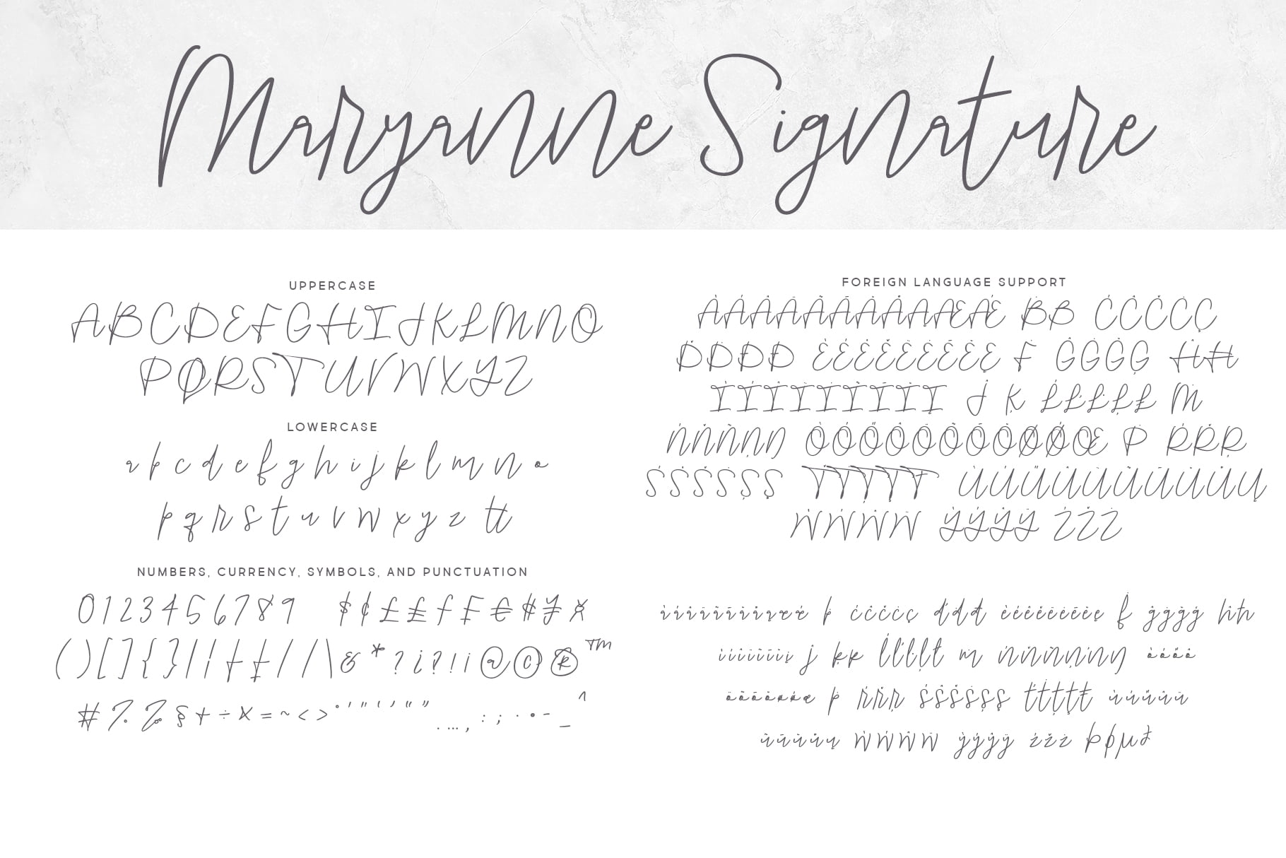 Maryanne Signature Letters Regular