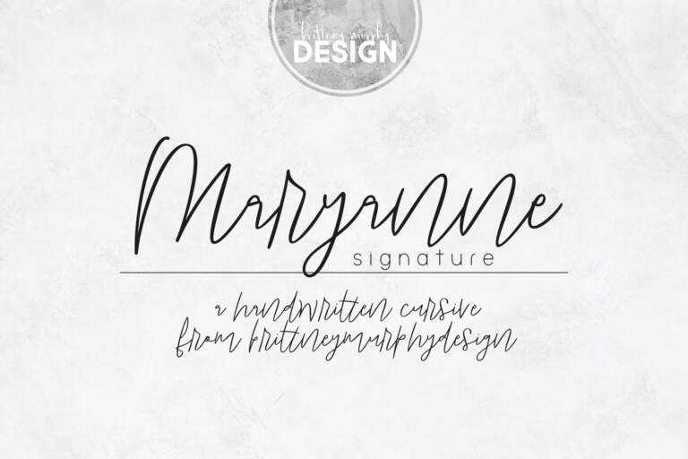 Maryanne Signature Title Regular