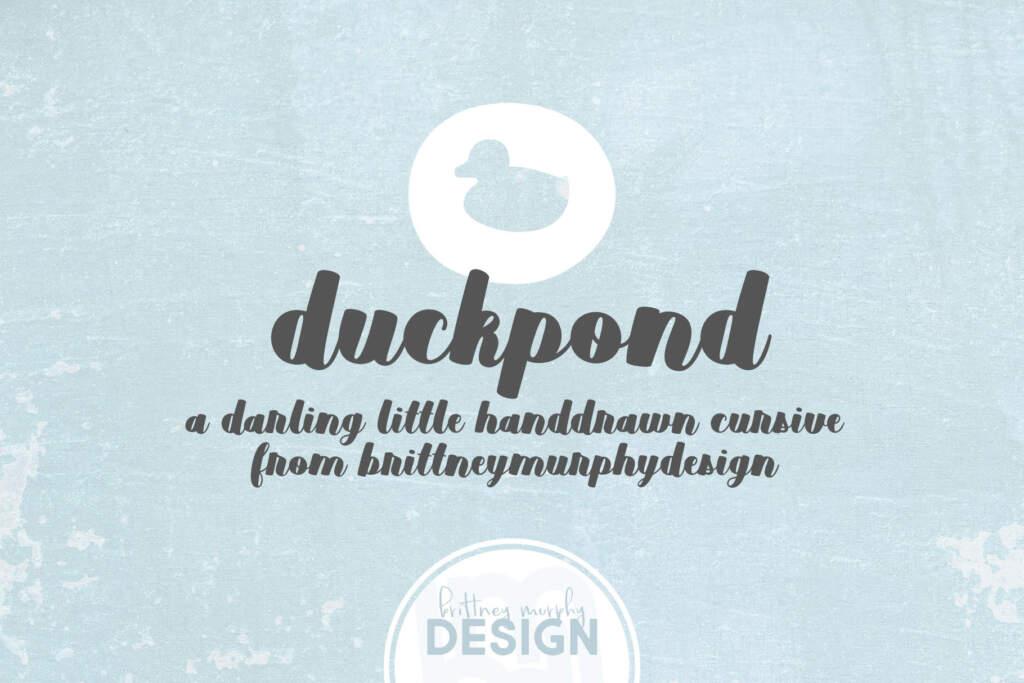 Duckpond Regular Title