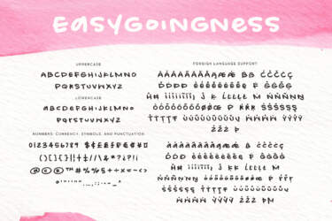 Easygoingness Regular Letters