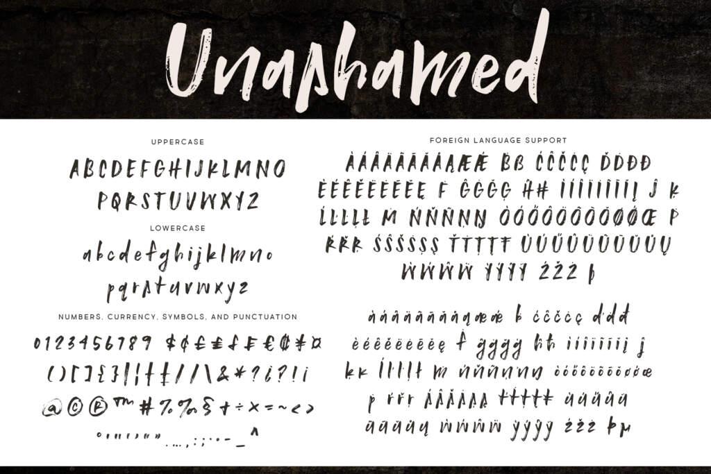 Unashamed Regular Letters