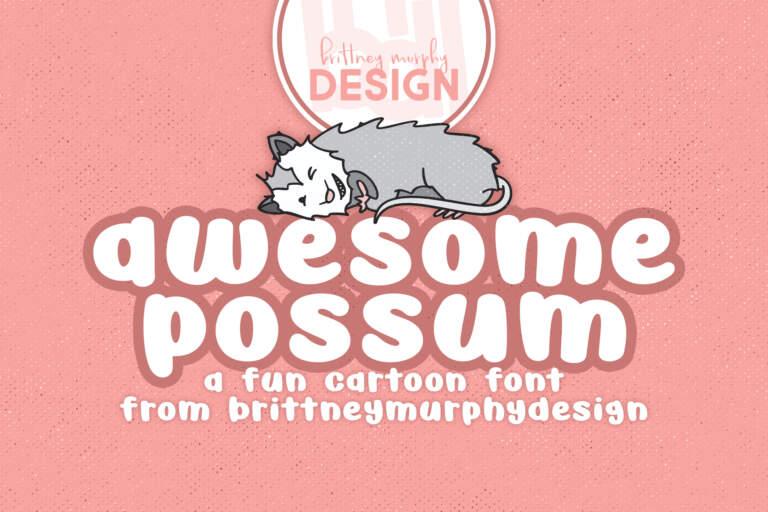 Awesome Possum Regular Title