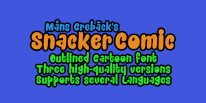 Snacker Comic Poster