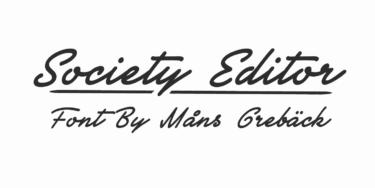 Society Editor Poster
