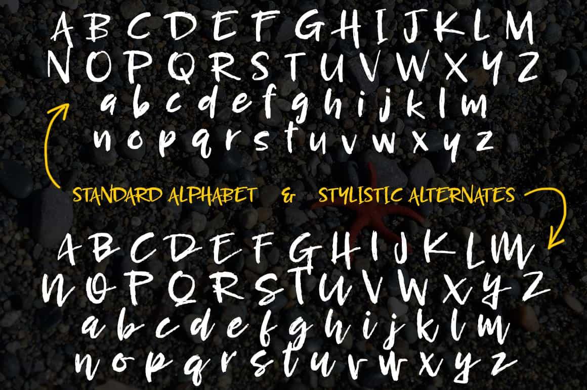 Breezy Regular Alphabets