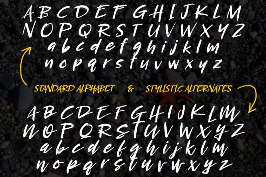 Breezy Steep Alphabet